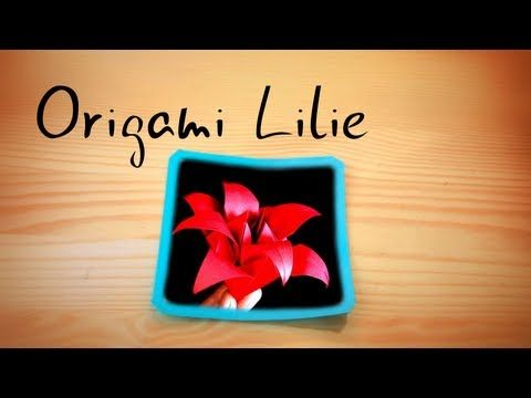 Origami Lilie návod česky - YouTube