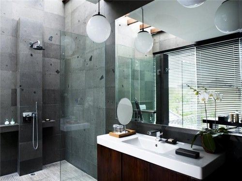 Not the light fixtures, but the rest is interesting. luxury hotel bathroom design in seminyak bali