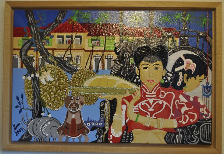 Asia Leben  Acrylmalerei von Klaus 2004