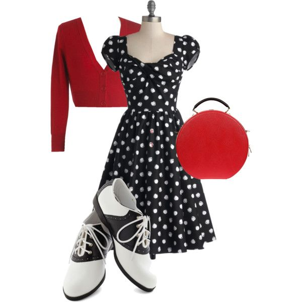 """""""Goin' to the sock hop"""" by julyg319 on Polyvore"""