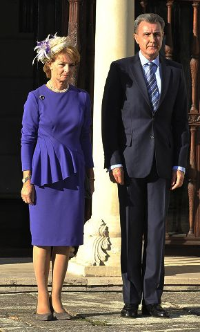 own Princess Margarita of Romania and her husband Prince Radu marked he 125th anniversary of the establishment of their country's first news agency with a celebration at Elisabeta Palace. 10/4/2014