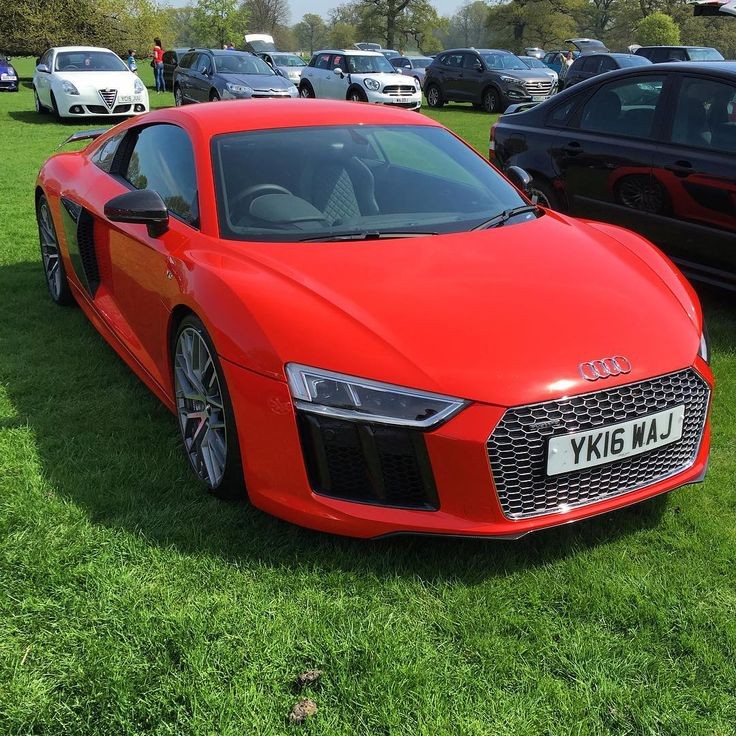 Always great finds at an event car park. New Audi R8 looks great in bright red