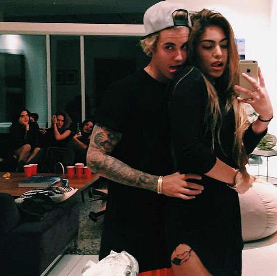 Justin Bieber Licks Natalia Skye The Cousin Of His Side Hoe Chantel Jeffries In A New Instagram Picture - http://oceanup.com/2015/04/08/justin-bieber-licks-natalia-skye-the-cousin-of-his-side-hoe-chantel-jeffries-in-a-new-instagram-picture/