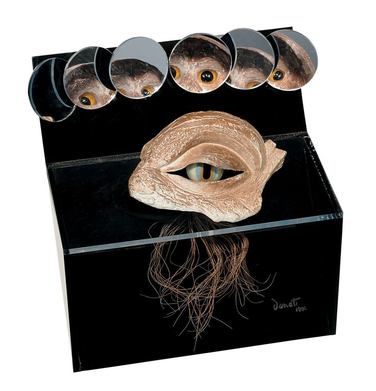 Evil Eye, 1946 by Enrico Donati. First exhibited at the Exposition Internationale du Surréalisme, which Donati helped Marcel Duchamp organize at the Galerie Maeght in Paris, Evil Eye will appear at the Weinstein Gallery during their Donati retrospective opening February 20. For more details and exhibits, see Events.