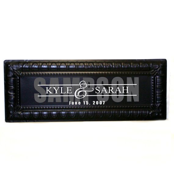 Custom Last Name Sign  personalized metal sign custom by LEVinyl