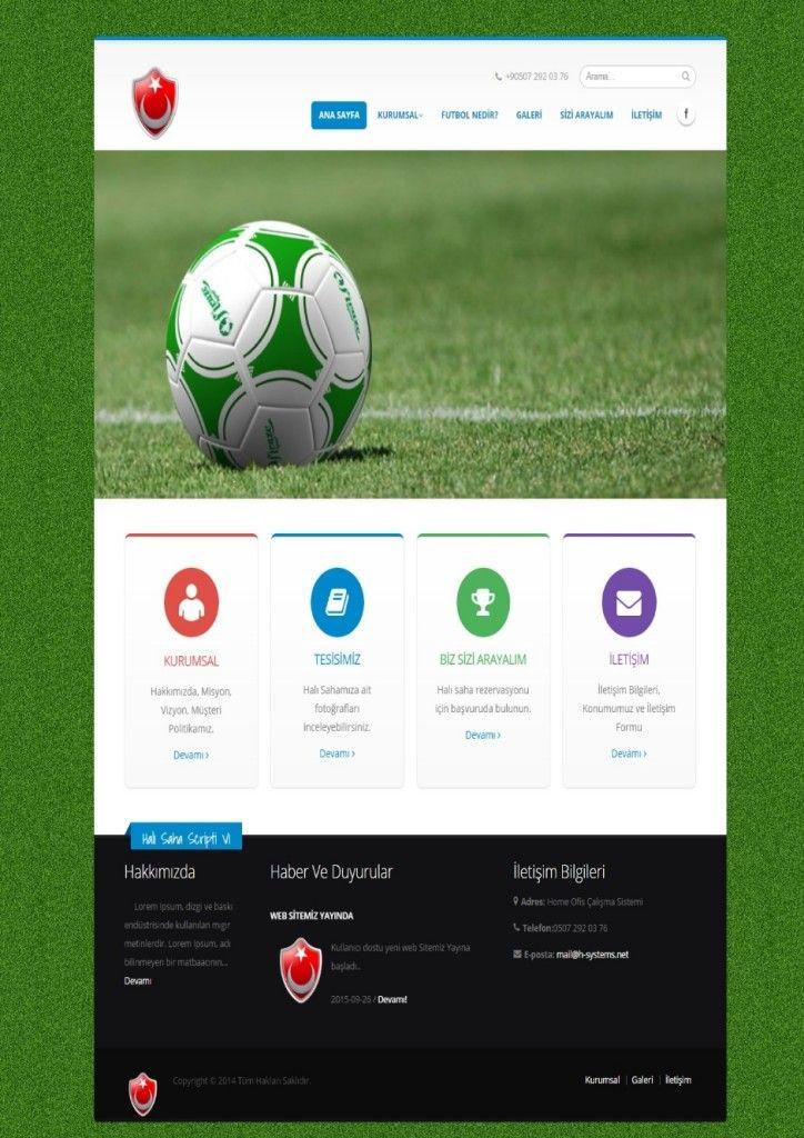 Halı Saha Web Tasarım - Halı Saha Sitesi - Halısaha Web Tasarımı | Web Tasarım | Web Sitesi Tasarımı | Web Yazılımı