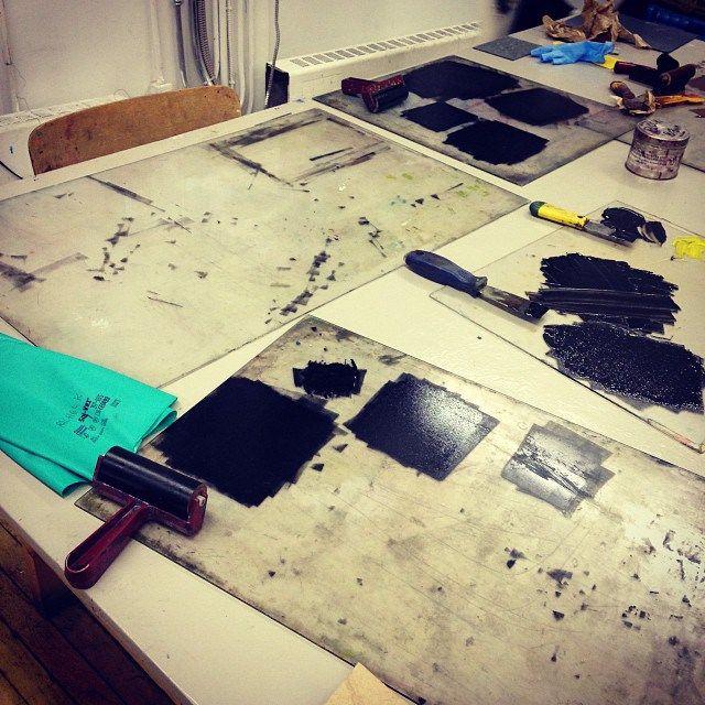 Set Forth Studio // To the moon! Launching my printmaking journey