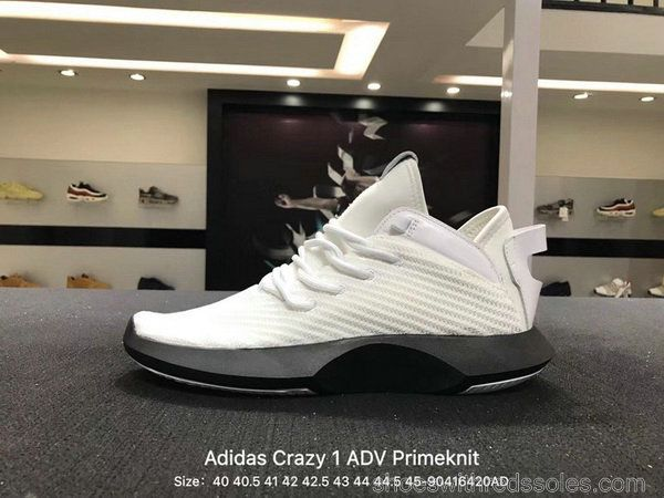 buy popular 49222 a5477 Men Adidas Crazy 1 ADV Primeknit White Black