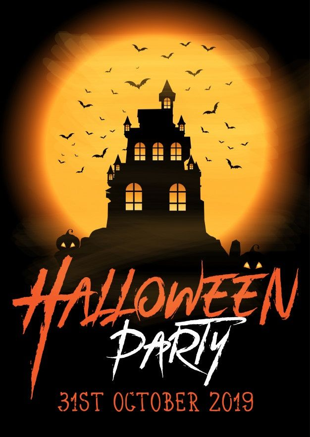 Halloween 2020 Poster Download Download Halloween Party Poster With Spooky Castle for free in