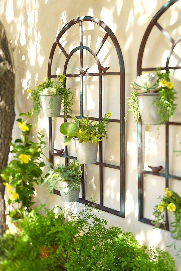 10 Farmhouse Rustic Outdoor Garden Decor Ideas You Ll Love In 2020 Garden Wall Decor Outdoor Wall Decor Outdoor Wall Art