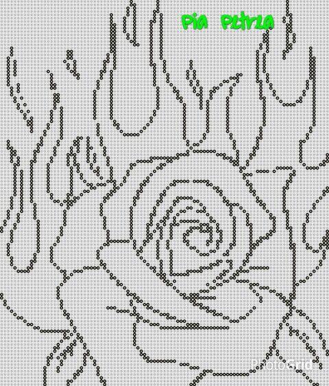 Flammende rose