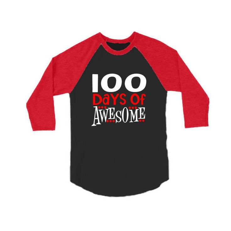 100th Days of Awesome Baseball Shirt| Youth 100th Day of School Shirt by GavinsAllyeDesigns on Etsy