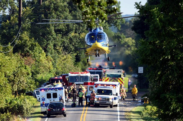 A U-M survival flight responds to the scene of a serious crash west of Ann Arbor