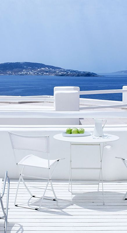 Views over the Aegean Sea from the Rocabella Mykonos Hotel