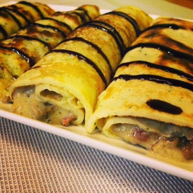 La cocina de Monis: Crepes de jamón, champis y queso