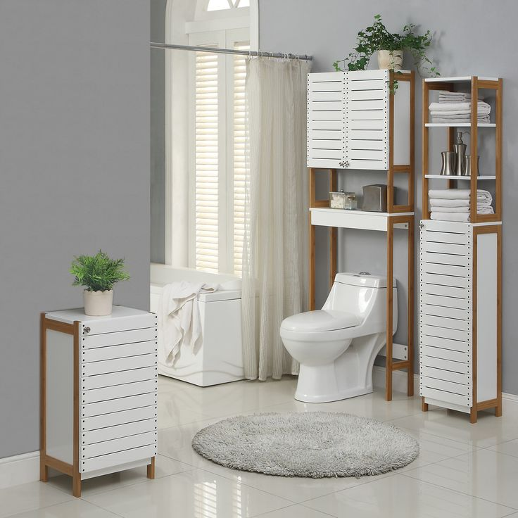 """Organize It All Rendition 14.5"""" W x 68"""" H Free Standing Linen Tower"""