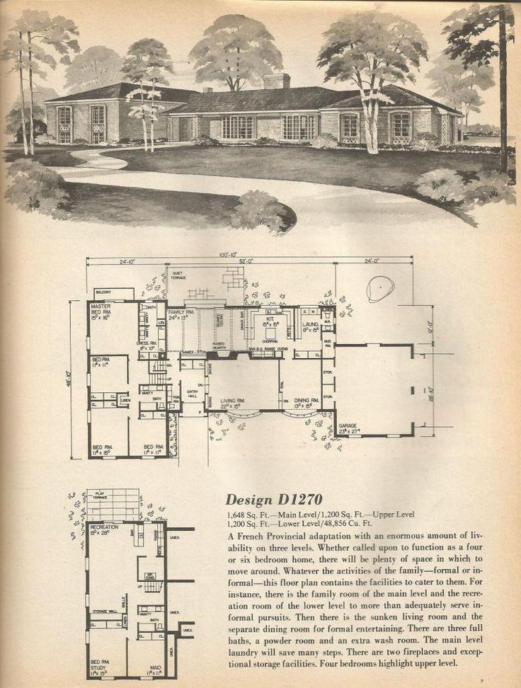 375 best classic homes images on pinterest floor plans vintage