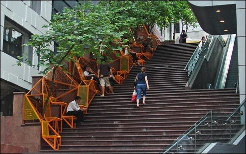 a mini-stair park in hong kong. such a clever use of space! photo via this big…
