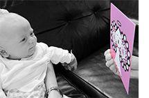 Onni ja Ilona, Cards to Babies / vauvojen katselukortit <3  P.S. Myös tumput katselukuvalla aivan ihanat!