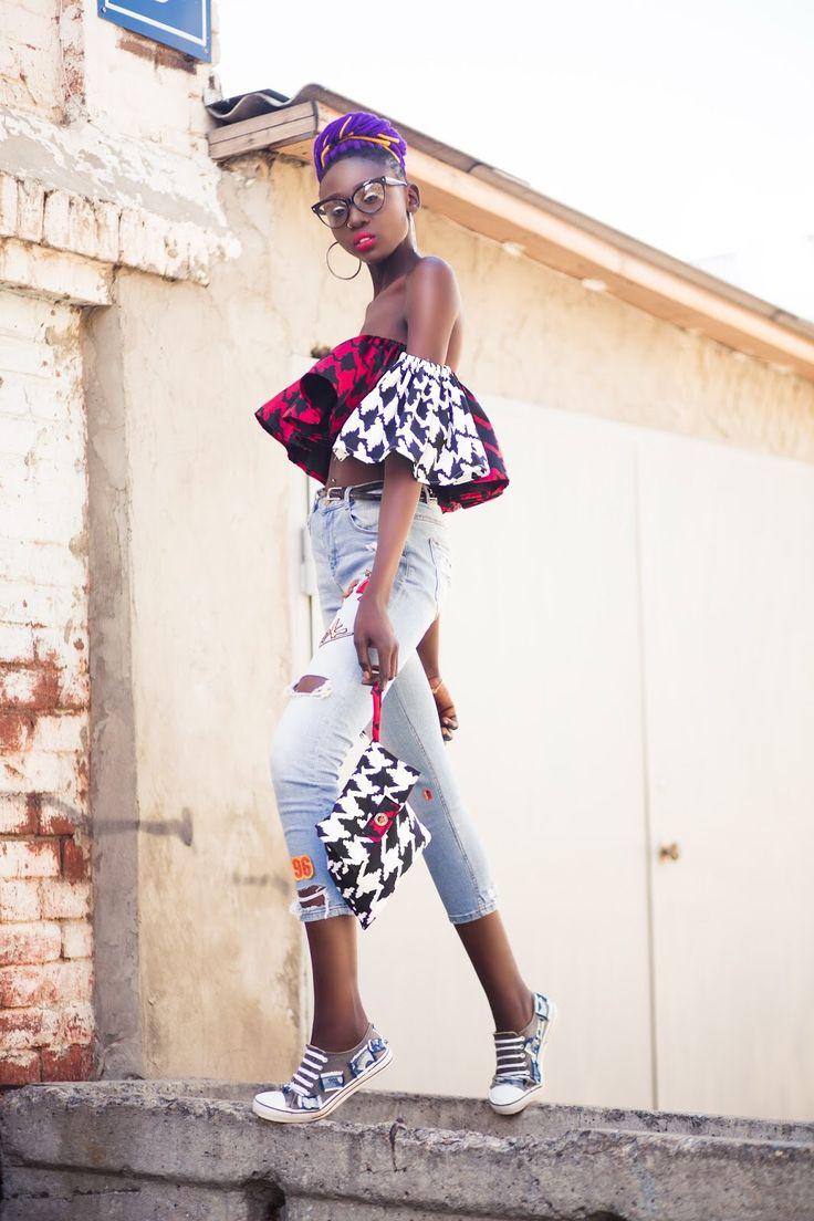 "blackfashion: "" @the–sui-generis: Whatchu know bout black girl magic 😎 Tosin Kharkov UA """