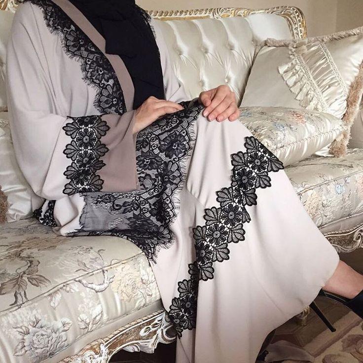 Lace Abaya. #EsteeAudra #Abaya