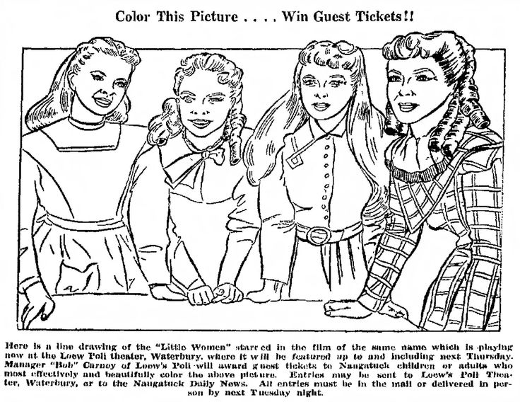 little women coloring contest movie 1949 with june allyson