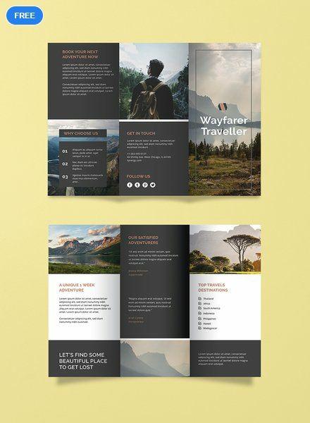 Free Travel Agency Brochure Brochure Templates Design 2019