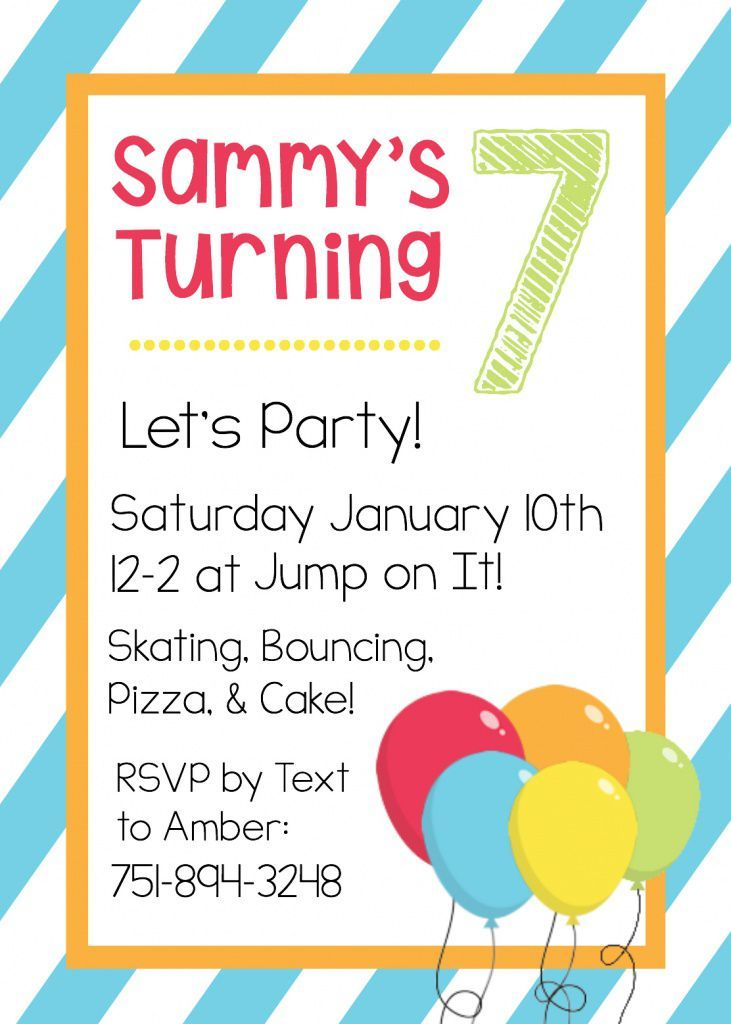 101 best Birthday Party Invitations images on Pinterest - free birthday invite template