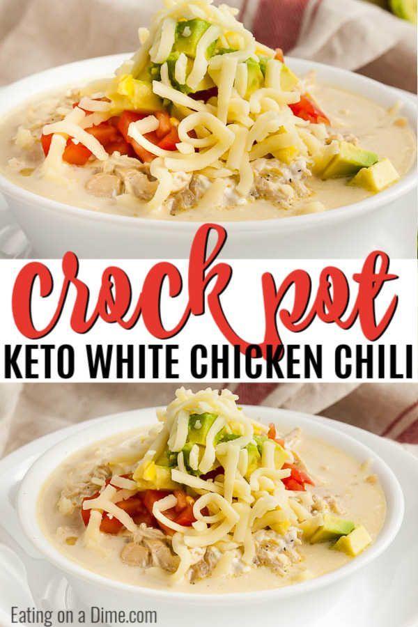 Crock Pot Keto White Chicken Chili Recipe Best Keto Chili White Chili Chicken Recipe Chicken Chili Recipe White Chicken Chili