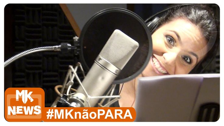 """Aline gravando seu novo cd infantil """"Aline Barros e cia 4"""""""