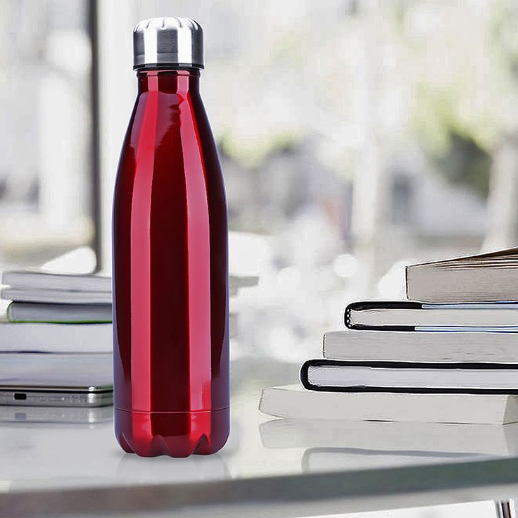 500ML Stainless Thermos Cola Shaped Double Wall Vacuum Water Bottle Flask - Red