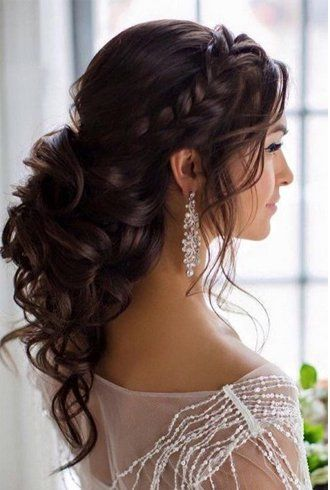 Half-up or Half-down hairstyle