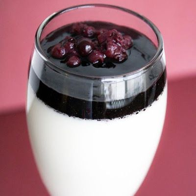 Coconut Panna Cotta with Berry and Red Wine Reduction @keyingredient