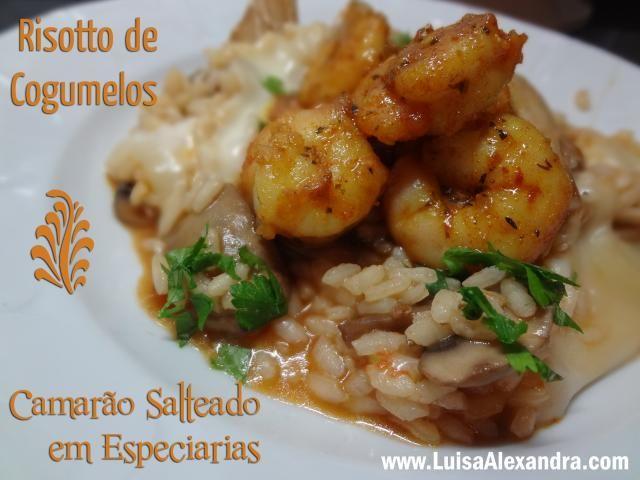 Risotto de Cogumelos com Camarao Salteado photo DSC06597.jpg
