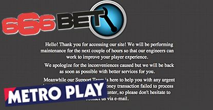 UK GAMBLING COMMISSION SUSPENDS 666BET, METRO PLAY OPERATING LICENSE  The UK Gambling Commission (UKGC) has temporarily suspended the operating license of Isle of Man-based 666Bet.