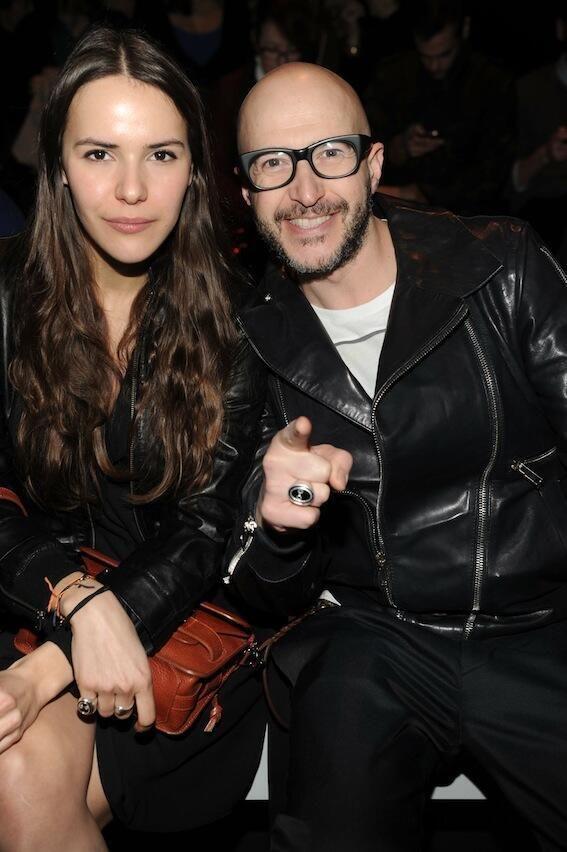 Saturnino Celani e Vanna Quattrini al Diesel Black Gold in un look total black e gli anelli Fpf!