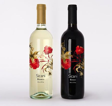wine packaging sicani wine bottles labels design package design