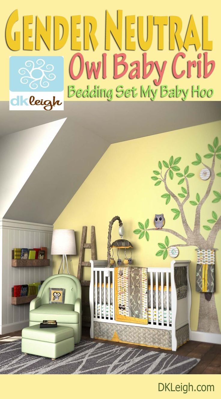 Leigh gender neutral 10pc owl baby crib bedding set grey yellow green - This Owl Nursery Theme Is The Perfect For Your Newborn Baby Girl Or Boy Create A Peaceful Beautiful Enviroment For Your New One To Rest Safely