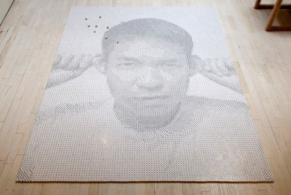Frederick McSwain remembers his friend Tobias Wong through a portrait made completely of dice. Beautiful work.