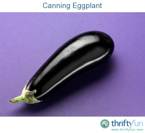 This guide is about canning eggplant. This vegetable is best when the bitter juice is drawn out before canning.