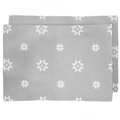 Time to create a winter wonderland look for your Christmas table by adding our beautiful Silver Grey Christmas Star Placemats. - 100% cotton - Seasonal, cool and silver grey scattered with white festive stars of varying size - Pack of 4 placemats - Size 33cm x 48cm - Machine washable (gentle wash at 30 degrees and use low non bio detergent) - Matching items available
