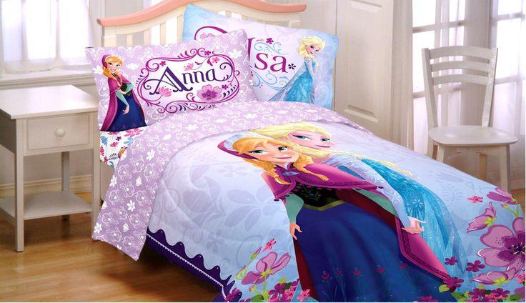 Frozen Bedding Set Comforter Sheet Elsa Disney Bed Decor Reversible Twin 4 Pcs #Disney