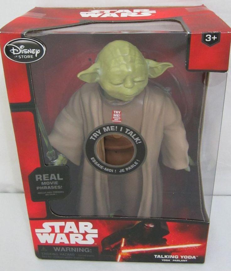 Disney Store Star Wars Talking Yoda Figure The Force Awakens 10'' BRAND NEW
