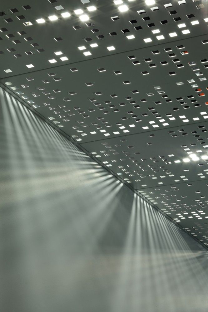 Juniper Networks / Valerio Dewalt Train Associates - ceiling tile, custom perforations