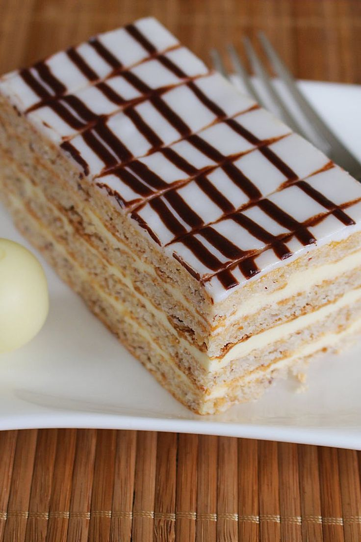 White and Beige Dessert Served on White Ceramic Square Plate