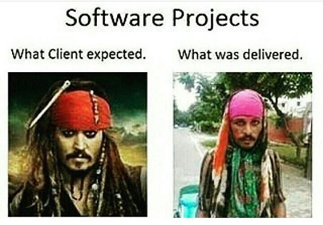 What client expected and what was delivered  #html #dell #ruby #blogger #wordpress #webdeveloper #computerscience #server #developer #software #computing #computer #python #instagood #linux #programming #java #coding #nerd #vb #whatsapp #programmer #microsoft #php #javascript #bitshacker #geek #python #like #pic