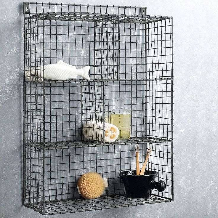 zinc bathroom storage - Notonthehighstreet.com