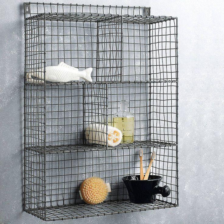 zinc bathroom storage - Notonthehighstreet.com