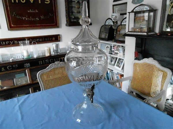 DEWARS WHISKY GLASS DISPENSER PRICE REDUCED !!! - Advertising Antiques & OldShopStuff.com Home - Forum - Collecting Enamel Signs Forums - Old Advertising - Items for Sale