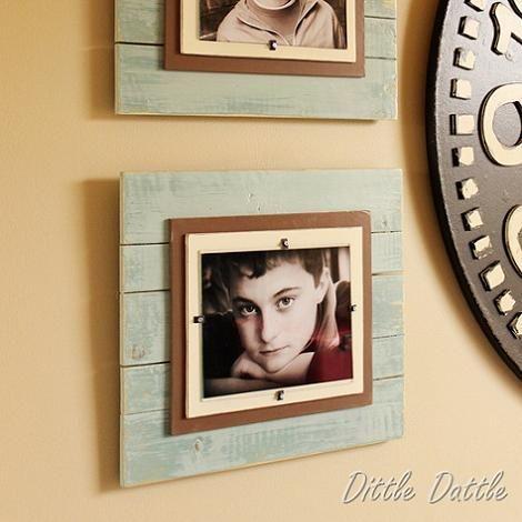 Marcos de fotos de madera